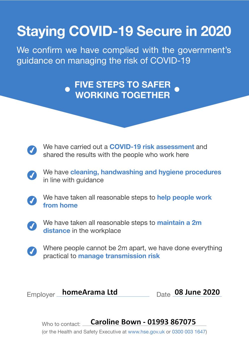 Covid Gov Safety Doc