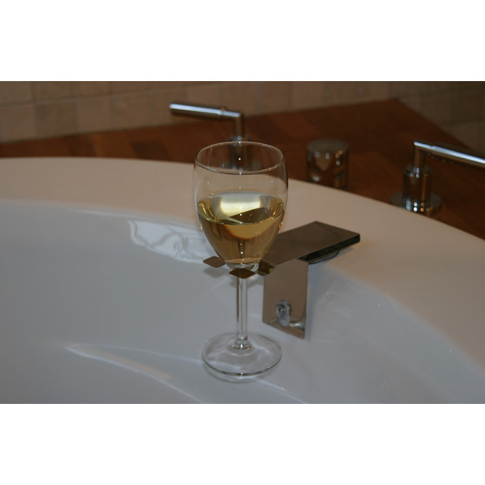 Bosign | Suction Bath Wine Glass Holder | Bath Accessory | Gift