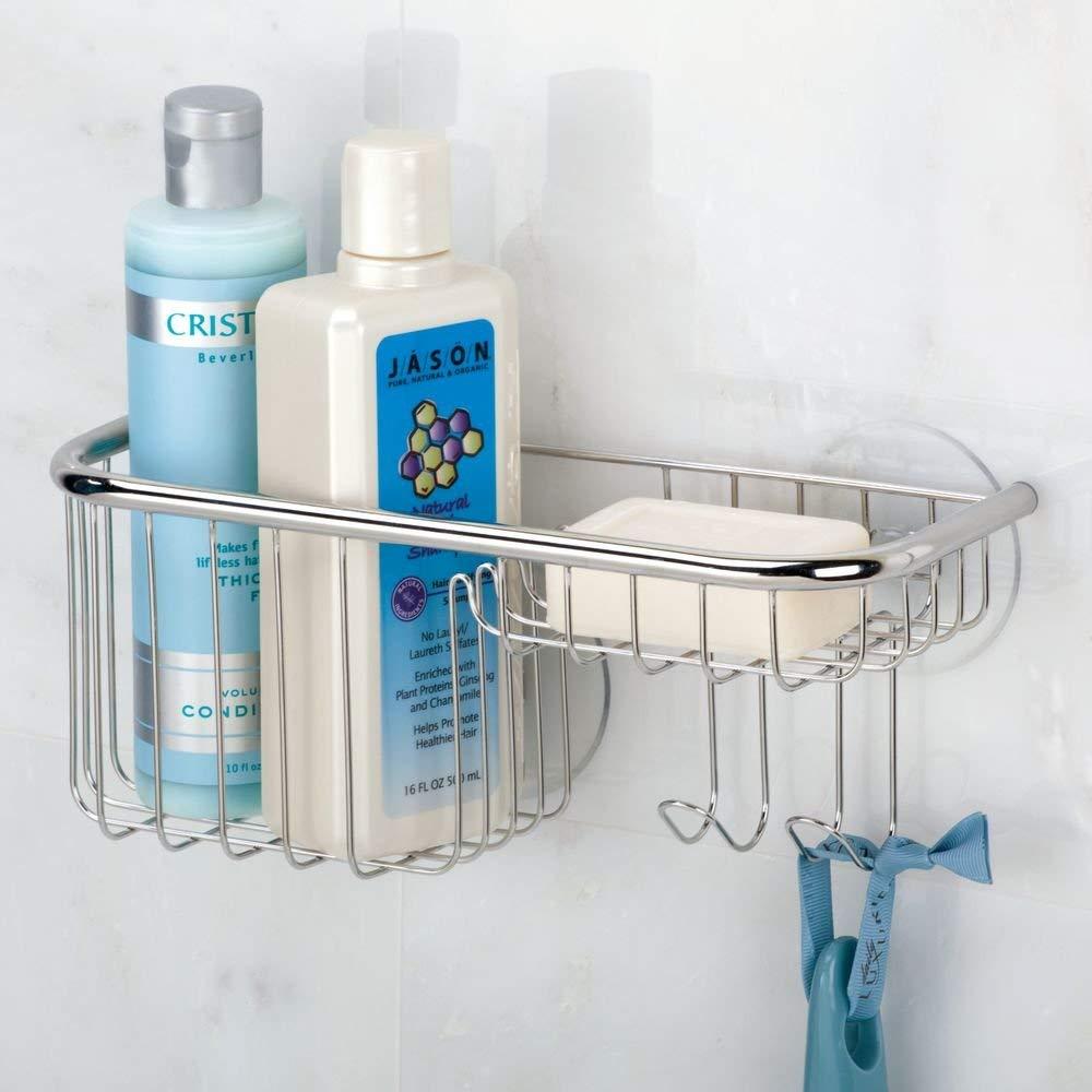 InterDesign | Forma Ultra Suction Shower Shelf Basket Soap Tray