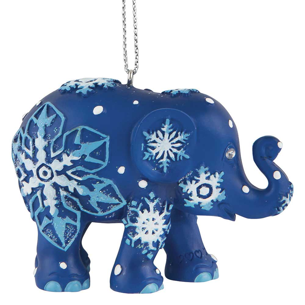 Elephant Parade Snowflakes Christmas Tree Ornament